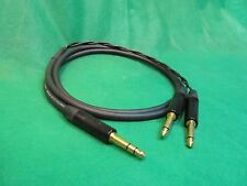 Mogami 2930, Single Channel Insert Cable W/ Neutrik Gold TRS to Dual TS, 6 Ft.