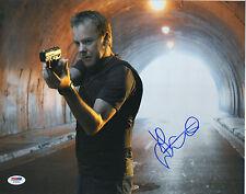 KIEFER SUTHERLAND SIGNED AUTO'D 11X14 PHOTO PSA/DNA Z78283 24 FOX JACK BAUER