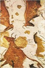 head of horse and three cows -18 000 to -15 000 LASCAUX FRANCE CAVES 24X36