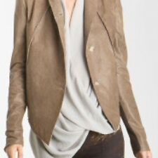 HELMUT LANG BEAUTIFUL  $1,325 RUGGED PETROL LEATHER  JACKET COAT P OR XS