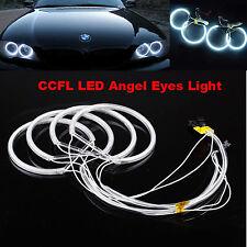 4x White 6000K Car CCFL Angel Eye Halo Rings Light Lamp for BMW E36 E38 E39 E46