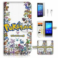 Sony Xperia M4 Aqua Flip Wallet Case Cover! P1917 Pokemon
