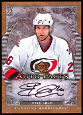 2007-08 UD ARTIFACTS AUTO FACTS AUTOGRAPH ERIK COLE SIGNED CAROLINA HURRICANES