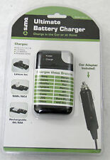 Ultimate Battery Charger, Universal, works at home & in the car, many types