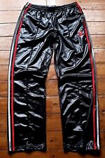 Adidas Chile62 Tracksuit Pants. Shiny Black / Multi-colour 3 strips. Unisex M