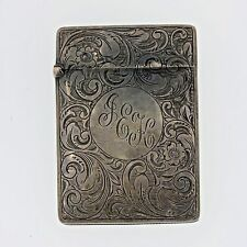 Antique Victorian 1870 Sterling Silver Match Safe MX