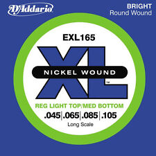 DAddario EXL165 Bass Guitar Strings 45-105 Long scale