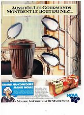 PUBLICITE ADVERTISING 054  1982  MAMIE NOVA  yaourts  MOUSSE AU CHOCOLAT