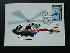 helicopter rescue team maximum card Luxembourg 2001