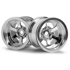 HPI 3087 Scorch 6-Spoke Wheel Shiny Chrome (2) Firestorm /Wheely King 4x4/Savage