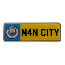 Manchester City Fc Man City Metal Car Number Plate Lapel Pin Badge