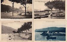 Lot 4 cartes postales anciennes AIX-LES-BAINS le grand port