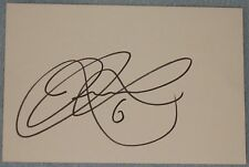Dean Leacock signed football index card (Derby)