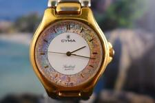 Elegant, Fancy Cyma Women's Gold Plated White/Sparkle Dial 33mm Quartz