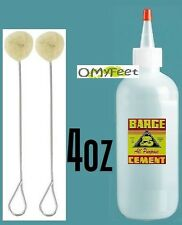 4 oz Barge ORIGINAL Contact Cement Glue with 2 Daubers red Cap 1 Plastic Bottle