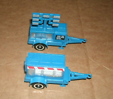 Two 1/64 Scale Work Site Trailer Plastic Models - Power Generator Lighting Carts