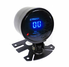 Universal 52mm Digital LED Oil Pressure Gauge 10 Bar With 1/8NPT Sensor/Sender
