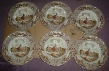 Johnson Brothers OLD LONDON Brown Large Soup Bowls x 6