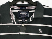 "Abercrombie & Fitch ""Muscolo"" Fit Polo T-shirt slim aderente LARGE L"