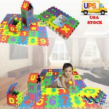 36PCS Child Soft Foam Play Mat Alphabet Number Animal GYM Puzzle DIY Toy Floor