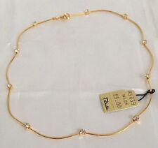 "Pakula 14"" Youth Size Gold TONE & Rhinestone Choker Necklace Flower Girl W Tag"