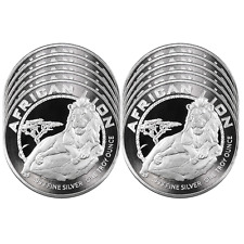 Lot of 10 - 2017 $2 Niue Silver African Lion .999 1 oz BU