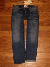 NWT's $206 CURRENT/ELLIOT The Boyfriend LOVED High Rise Cropped Jeans Sz 24