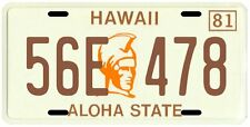 Magnum PI Tom Selleck 1980 Hawaii License plate