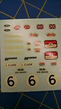 A Colortone 66813 6 J. Clark, Lotus, Ford,Etc Decals from Mid America Naperville