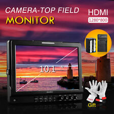 "Feelworld 10.1"" IPS HD Camera Video Monitor 1280*800 + Battery Pack +Gift"