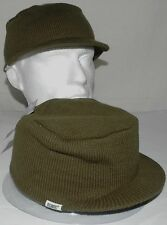 Mens Atlantis USA Caps Army Military Square Soft Olive Cap Hat Knitted - C034.C