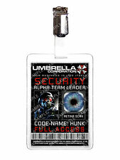 Resident Evil Umbrella Security Hunk ID Badge Cosplay Costume Prop Halloween
