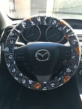 Jack Skellington Face And Logo Nightmare Before Christmas Steering Wheel Cover