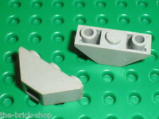 2x LEGO OldGray slope brick 2341 / set 8286 5581 6086 5541 6444 5958 5978 ...