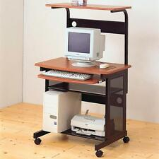 Metal and Wood Computer Desk Cart with Storage and Casters by Coaster 7121