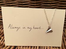 One Direction 1D Tattoo Inspired Charm Necklace Paper Airplane Larry Stylinson