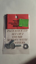 PACE THUMB SCREWS FOR AN ANTIQUE SLOT MACHINE JACKPOT THUMB SCREWS 8/32 X 1/2""