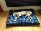 COSYPET BLUE CHECK FLEECE Deluxe Waterproof Dog Bed,Dog Beds,Pet Beds,Dogbed,