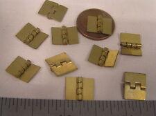 10 Vtg 10x12 Mini  brass Hinge Bracelet Clasp Jewelry Findings Lot Repair Craft