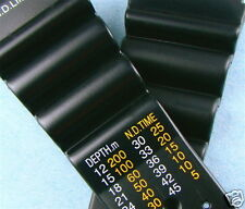 24mm Black Rubber Style Watch Band (N.D. TIME) Fits CITIZEN AQUALAND PROMASTER