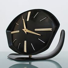 REAL BAUHAUS TOP! Mantel/Wall Clock Germany 1930s Antique SOLID BAKELITE! Jewels