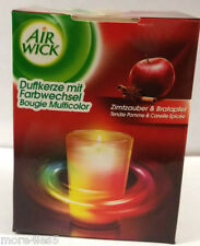Air Wick Colour Changing candle 155g CINNAMON APPLE Fragrance AIRWICK Brand New