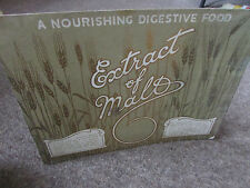 EXTRACT of MALT Digestive Food Original c 1920's SHOP Advertising Showcard