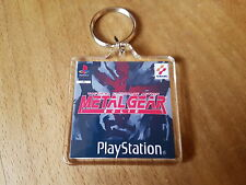METAL GEAR SOLID PLAYSTATION ONE keyring large square keyring psx
