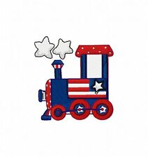 Patriotic Train 15 Machine Embroidery Designs on CD  4x4 multi-formatted