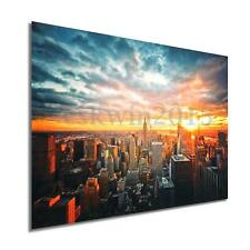 """35""""x23"""" New York City Night Cityscape Silk Cloth Poster Home Wall Decoration"""