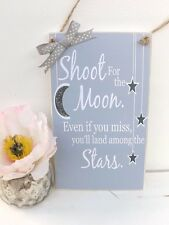 Inspirational Quote Plaque Shoot For The Moon Friend Family Gift