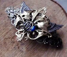 Haarspange Flügel Wings valkyrie walküre  steampunk skeleton ornate gothic