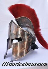 GREEK WARRIOR 300 Spartan King Leonidas 18G STEEL HELMET OLD COPPER FINISH H748O