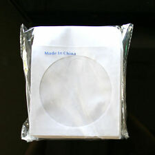 """500 Wholesale CD DVD R Disc Paper Sleeve Envelope with 4"""" Window & Flap"""
